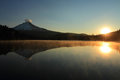 Mount Hood at sunrise Stock Photography