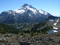 Mount Jefferson with Lake Royalty Free Stock Images