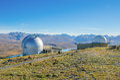 Mount John Observatory near Lake Tekapo Southern Alps mountain valleys New Zealand. Royalty Free Stock Photo