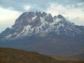 Mount kilimanjaro the highest in africa Stock Photography