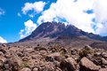 Mount kilimanjaro the highest in africa Royalty Free Stock Image
