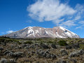 Mount kilimanjaro the highest in africa Royalty Free Stock Photography