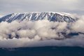 Mount kilimanjaro highest mountain in africa kibo summit of uhuru peak worlds highest free standing mountain Stock Photography