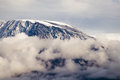 Mount kilimanjaro highest mountain in africa kibo summit of uhuru peak worlds highest free standing mountain Stock Images
