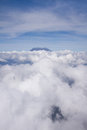 Mount of kinabalu mountain view from airplane Royalty Free Stock Photography
