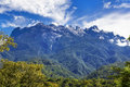 Mount kinabalu in sabah borneo east malaysia Royalty Free Stock Images
