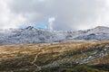 Mount Kosciuszko National Park - Snowy Mountains covered in snow Royalty Free Stock Photo