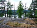 Mount linnavuori the view from the mountain of on lake saimaa in finland Royalty Free Stock Photos