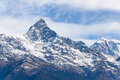 Mount machapuchare in nepal the annapurna range Stock Image