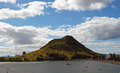 Mount maunganui tauranga new zealand know as the in a volcanic cone that is no longer active Royalty Free Stock Photo