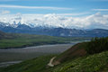 Mount mckinley view of denali from the trail above eielson visitor center Stock Photo