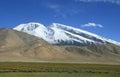 Mount muztag ata the father of ice mountains on pamirs plateau taxkorgan kashgar xinjiang china Royalty Free Stock Photo