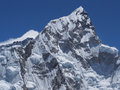 Mount nuptse seen from kala patthar nepal Stock Photos