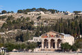 Mount of Olives and Church of All Nations Royalty Free Stock Photos