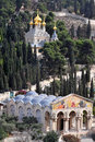 Mount of Olives in Jerusalem Stock Image