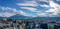 Mount Pilatus and Lucerne Royalty Free Stock Photo