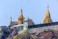 Mount popa taungkalat monastery atop an outcrop of volcano myanmar Stock Photography