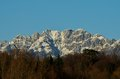 Mount resegone with snow prealps of lombardy Stock Images