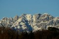 Mount resegone with snow prealps of lombardy Royalty Free Stock Photos