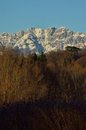 Mount resegone with snow prealps of lombardy Stock Photos