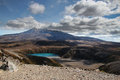 Mount ruapehu view on while tongariro circut Royalty Free Stock Photo