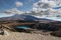 Mount ruapehu view on while tongariro circut Royalty Free Stock Photo