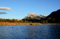 Mount rundle and vermilion lakes in autumn canadian rockies canada at sunset inscribed on the unesco world heritage list Stock Photos