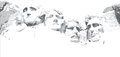 Mount Rushmore Line Drawing Royalty Free Stock Photo