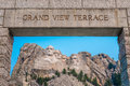 Mount Rushmore National Memorial Grand View Terrace Royalty Free Stock Photo