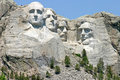 Mount rushmore national memorial sculpture scuptured faces of the presidents george washington thomas jefferson theodore roosevelt Stock Images