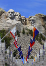 Mount rushmore national monument with state flags south dakota usa Stock Images