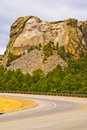 Mount rushmore road to south dakota Stock Images