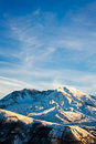Mount saint helens snow covered national volcanic monument washington Stock Image