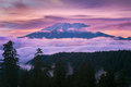 Mount Saint Helens Sunset In W...