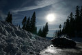 Mount Shasta road, California, USA Royalty Free Stock Photo
