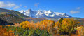 Mount sneffles landscape panoramic view of scenic Royalty Free Stock Images