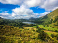 Mount snowdon hiking trails to the summit of snowdonia wales Stock Photo
