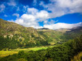 Mount snowdon hiking trails to the summit of snowdonia wales Royalty Free Stock Photos