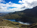 Mount snowdon hiking trails to the summit of snowdonia wales Stock Images
