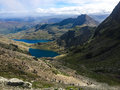 Mount snowdon hiking trails to the summit of snowdonia wales Royalty Free Stock Photo