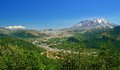 Mount st helens and mount adams washington state Royalty Free Stock Photo