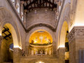 Mount tabor israel july interior and mosaics on the w wall of church of transfiguration Royalty Free Stock Images