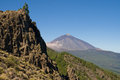 Mount Teide from Mirador de Ayosa Stock Photography