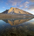 Mount Tyndall Reflection Royalty Free Stock Photo