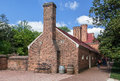 Mount vernon brick house washington two buildings with chimneys in virginia Stock Image