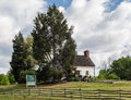 Mount vernon washington a historical stone house with a chimney in Royalty Free Stock Images