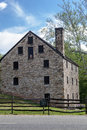 Mount vernon washington a historical stone house with a chimney in Stock Photo
