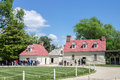 Mount vernon washington the wood houses of the farm in virginia Royalty Free Stock Image