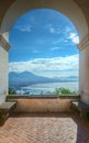 Mount Vesuvius and Gulf of Naples, Italy Stock Photo