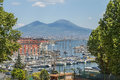Mount Vesuvius and Gulf of Naples, Italy Royalty Free Stock Photo